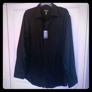 Men's long sleeved black dress shirt BNWT